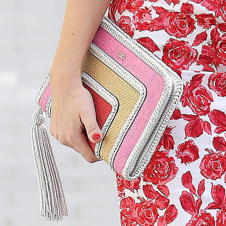 Kelly Brook's Anya Hindmarch zip pouch