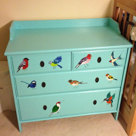 My mum is an artist and helped me decorate the my baby's furniture