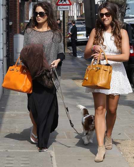 Binky Felstead and Gabriella Ellis out in London