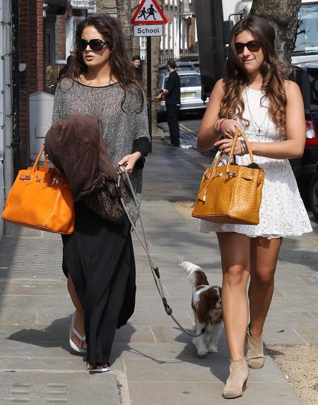 Binky Felstead and Gabriella Ellis' Hermes Birkin bags