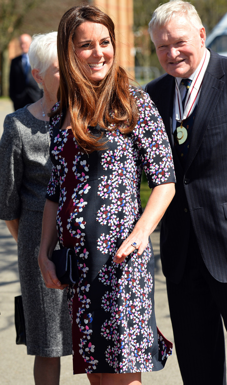 Kate Middleton wears Erdem florals to Manchester primary school
