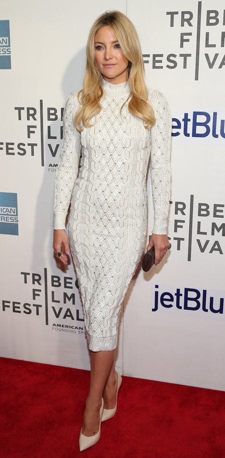 Kate Hudson wears Jenny Packham at Reluctant Fundamentalist Tribeca premiere