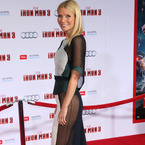 Gwyneth Paltrow stuns in sheer Antonio Berardi for Iron Man 3 