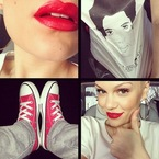 Jessie J boosts her mood with red lipstick