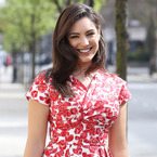 Kelly Brook rocks 50s florals for Celebrity Juice