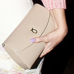 CELEBRITY BAGS: Kimberley Walsh's Launer clutch