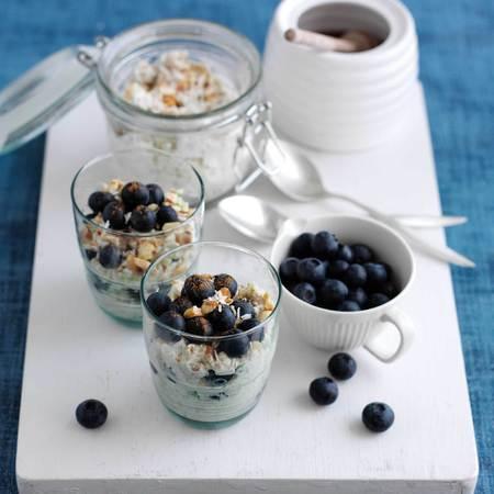 Berry bircher museil recipe