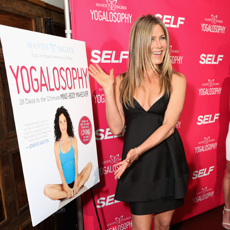 Jennifer Aniston is the original yoga advert