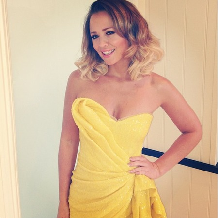 Kimberley Walsh wears yellow sequins for charity event
