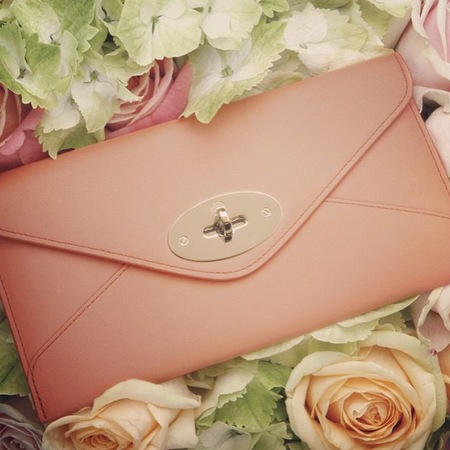 Mulberry sorbet shades envelope clutch bag trend