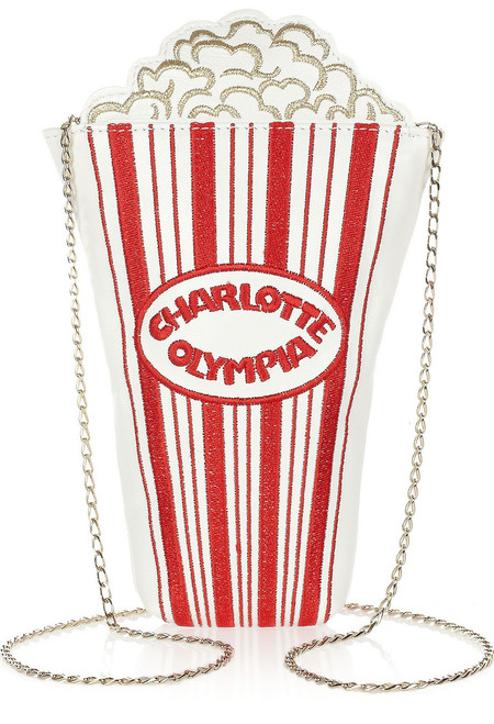 Charlotte Olympia popcorn Movie Night shoulder bag