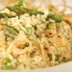 British asparagus & shallot risotto recipe