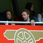 Jay Z and Chris Martin watch Arsenal match