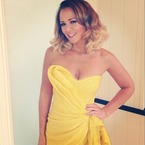 Kimberley Walsh stuns in sunshine yellow sequins