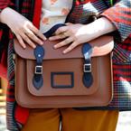 CELEBRITY BAGS: Lena Dunham loves a satchel