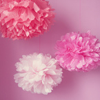 Fall in love with making cheap paper pom pom decorations