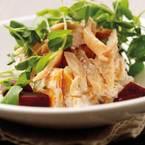 Smoked Trout, Beetroot, Sweet Potato & Wasabi Salad