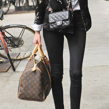 Alexa Chung's Louis Vuitton holdall bag