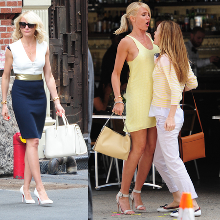 Cameron Diaz handbags on set for The Other Woman