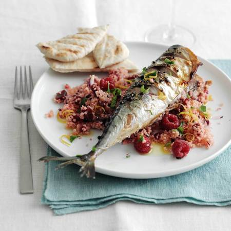 Mackerel with raspberries recipe