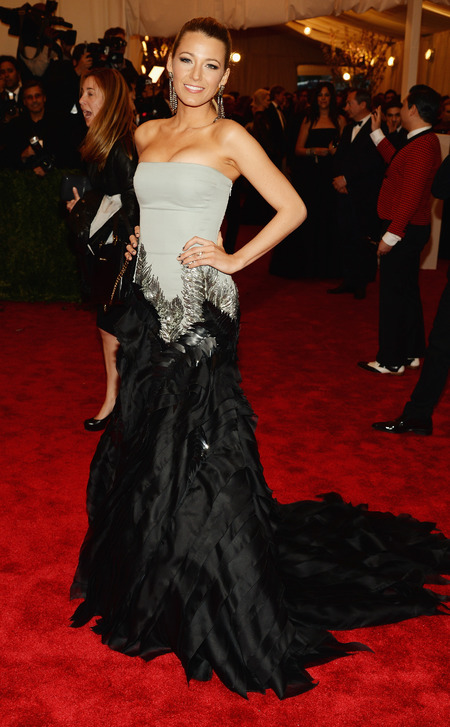 Blake Lively wearing Gucci at Met Ball 2013