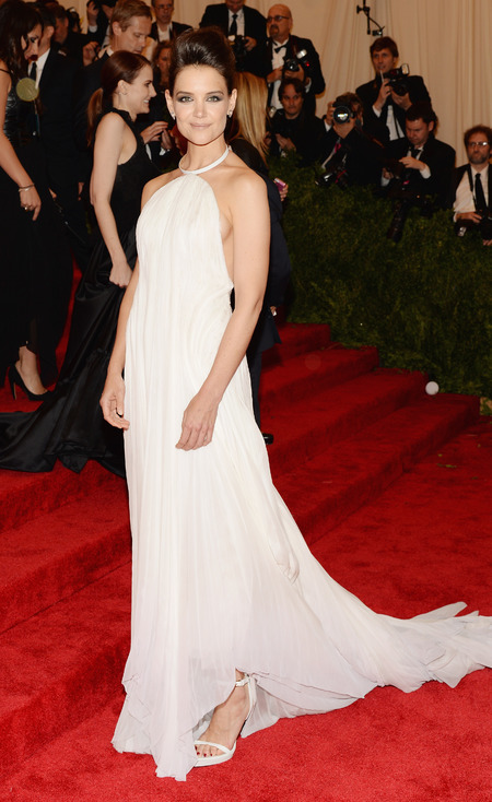 Katie Holmes wears Calvin Klein dress to Met Gala 2013