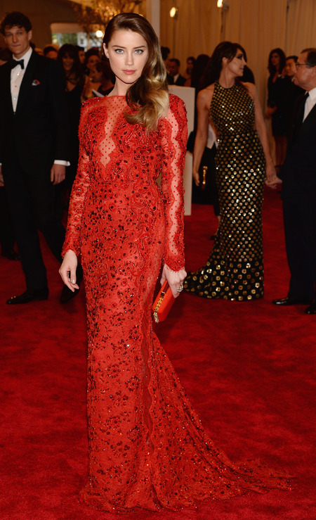 Amber Heard wears Emilio Pucci to Met Ball 2013