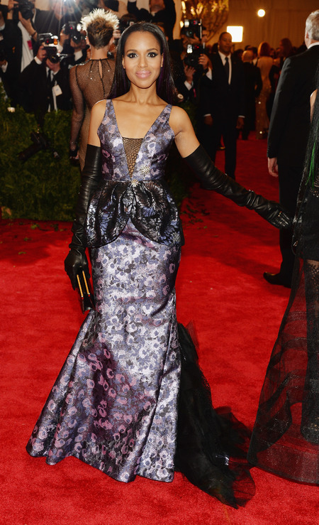 Kerry Washington wears Vera Wang dress to Met Ball 2013