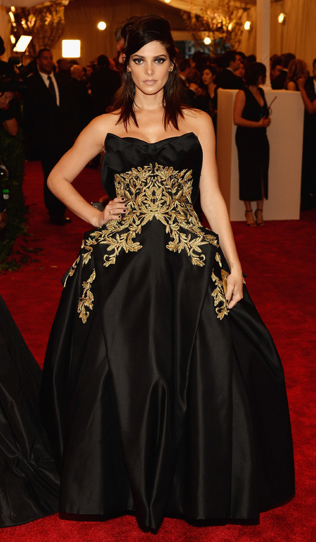 Ashley Greene wears Marchesa dress to Met Ball 2013