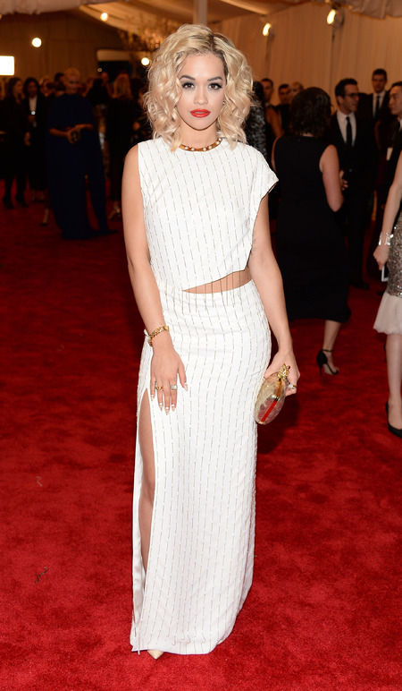 Rita Ora in Thakoon dress at Met Ball 2013