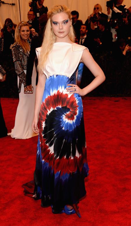 Elle Fanning in Rodarte at Met Ball 2013