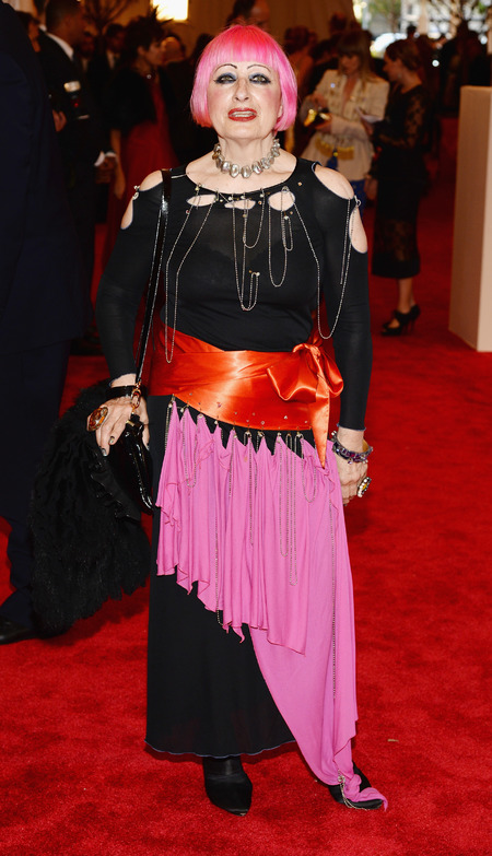 Zhandra Rhodes at the Met Ball 2013
