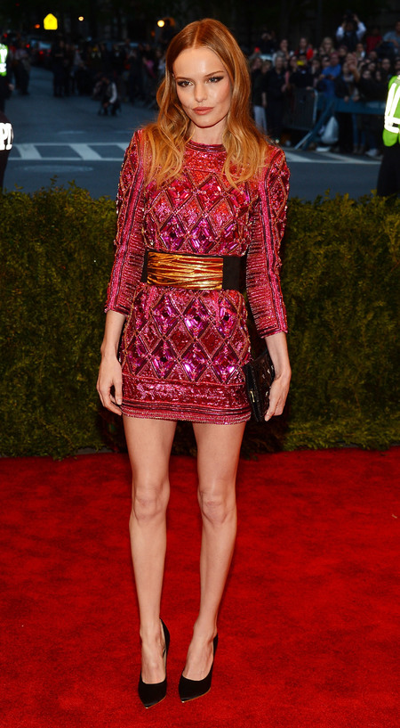 Kate Bosworth wears Balmain dress to Met Ball 2013
