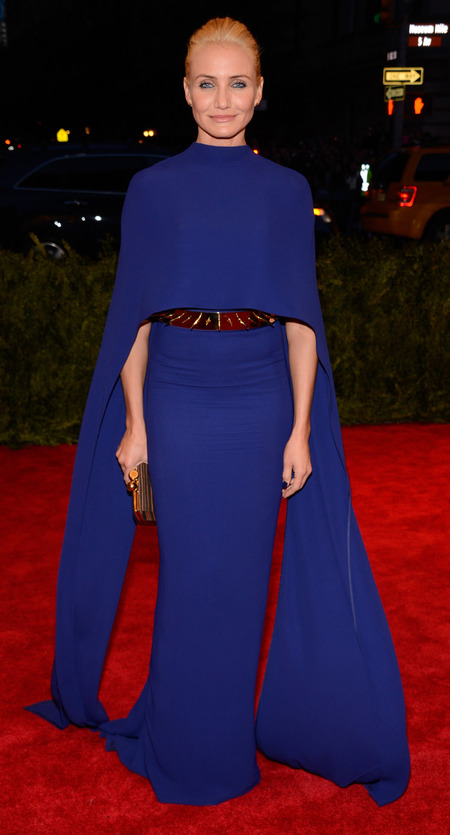 Cameron Diaz in Stella McCartney dress at Met Ball 2013