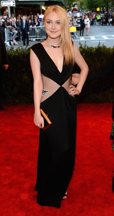 Dakota Fanning in Rodarte dress at Met Ball 2013