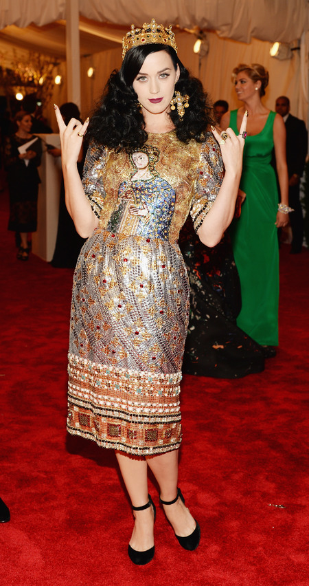 Katy Perry wears Dolce & Gabbana dress to Met Ball 2013