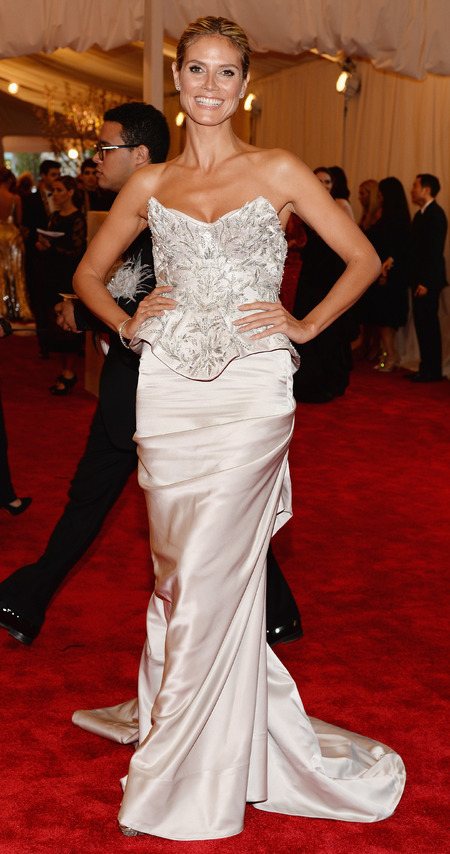 Heidi Klum in Marchesa dress at Met Ball 2013