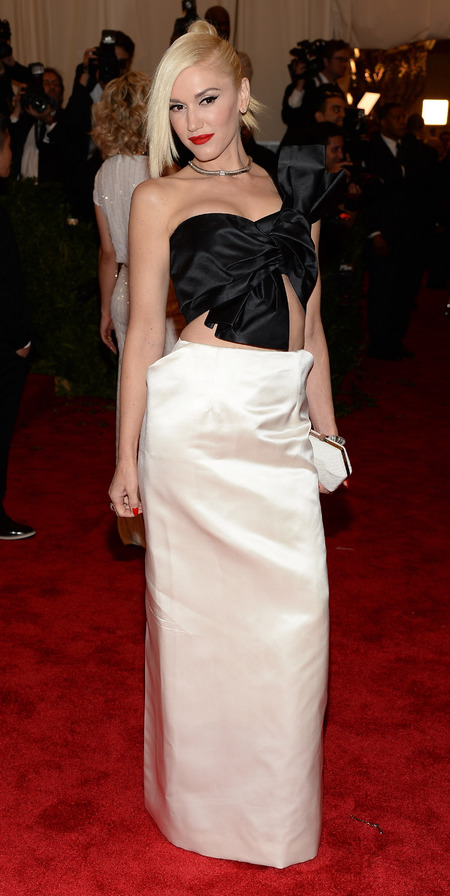Gwen Stefani in Maison Martin Margiela at Met Ball 2013