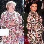 FASHION FIGHT! Kim Kardashian v Robin Williams in florals