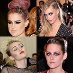 Punk hair & makeup at 2013 Met Ball