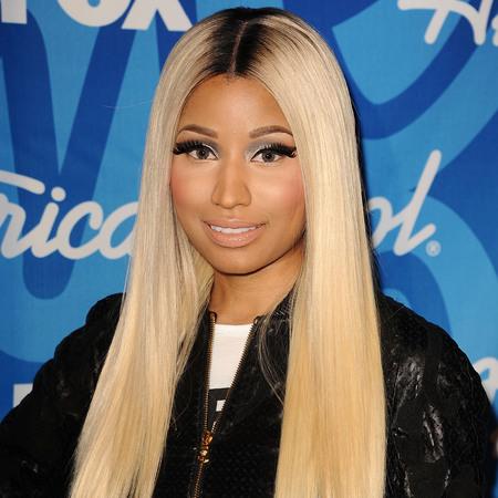 Nicki Minaj poses in the press room at the American Idol 2013 finale