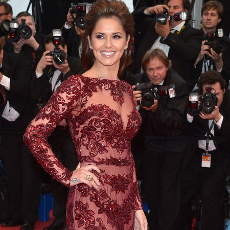 Cheryl Cole in maroon Zuhair Murad at Cannes Film Festival 2013