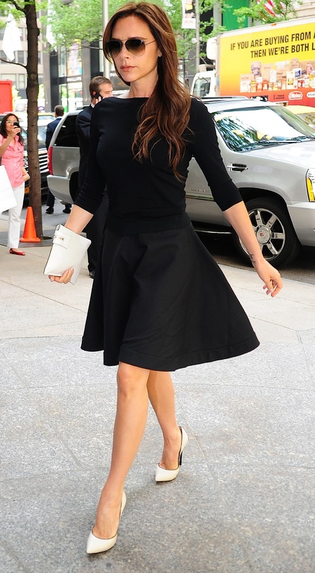 Victoria Beckham's A-line black dress