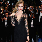 CANNES: Cara Delevingne in Burberry at Great Gatsby