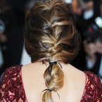 CANNES: Cheryl Cole's high volume fishtail plait