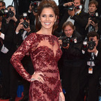 CANNES: Cheryl Cole wows in sheer maroon lace