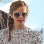 CANNES: Emma Watson's French plait and pink lips