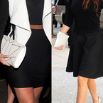 BAG BATTLE: Tulisa v Victoria Beckham's white clutch