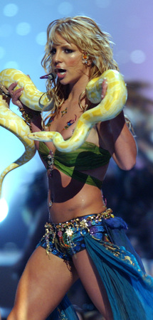 Britney Spears with a python.