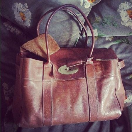 Alexa Chung's Mulberry Bayswater bag